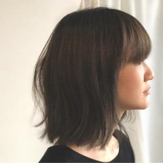 切りっぱなし ボブ 内巻き 外国人風 ヘアスタイルや髪型の写真・画像