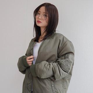 透明感 レイヤーカット 冬 秋 ヘアスタイルや髪型の写真・画像