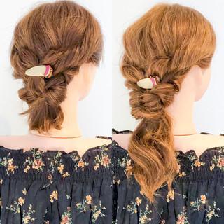 ヘアアレンジ エレガント アウトドア ロング ヘアスタイルや髪型の写真・画像