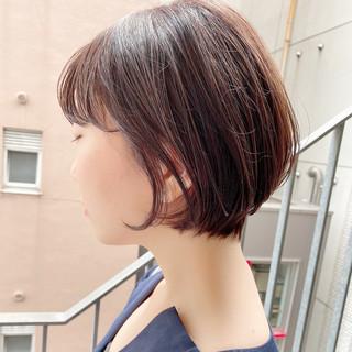 ショートボブ デート ショート オフィス ヘアスタイルや髪型の写真・画像