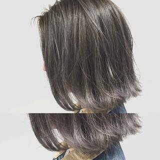 アッシュ 暗髪 グラデーションカラー ストリート ヘアスタイルや髪型の写真・画像
