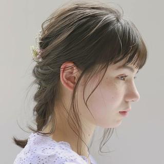 デート ヘアアレンジ パーマ ナチュラル ヘアスタイルや髪型の写真・画像