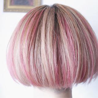 ハイライト ボブ 外国人風 透明感 ヘアスタイルや髪型の写真・画像
