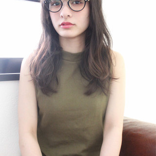 パーマ 大人かわいい ロング ブラウン ヘアスタイルや髪型の写真・画像