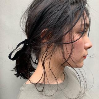 ヘアアレンジ アンニュイほつれヘア フェミニン パーマ ヘアスタイルや髪型の写真・画像