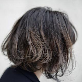 グラデーションカラー ハイライト ボブ 色気 ヘアスタイルや髪型の写真・画像