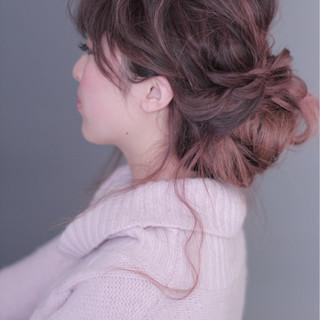 外国人風 ゆるふわ セミロング 簡単ヘアアレンジ ヘアスタイルや髪型の写真・画像