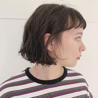 ナチュラル ボブ ミニボブ くせ毛 ヘアスタイルや髪型の写真・画像