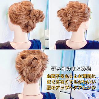 くるりんぱ アップスタイル ロング ヘアアレンジ ヘアスタイルや髪型の写真・画像