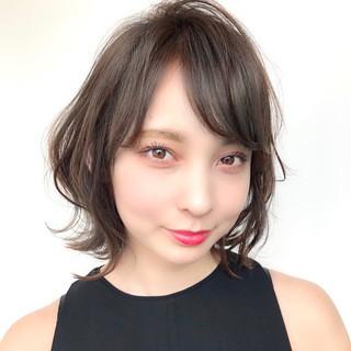 デート モテボブ 透明感カラー フェミニン ヘアスタイルや髪型の写真・画像