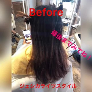 外国人風カラー ヘルシースタイル ロング ナチュラル ヘアスタイルや髪型の写真・画像
