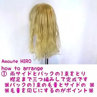 セミロング まとめ髪 かわいい 簡単ヘアアレンジ ヘアスタイルや髪型の写真・画像