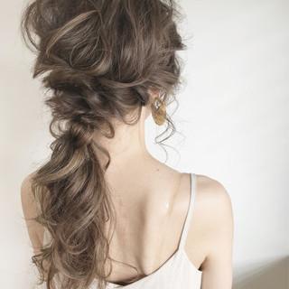 結婚式 涼しげ エレガント ヘアアレンジ ヘアスタイルや髪型の写真・画像