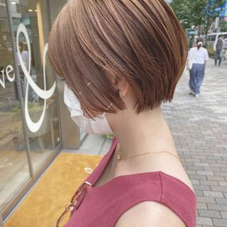 フェミニン ベリーショート ショート ショートボブ ヘアスタイルや髪型の写真・画像