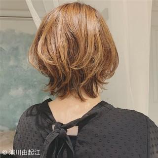 切りっぱなしボブ デート エレガント ボブ ヘアスタイルや髪型の写真・画像