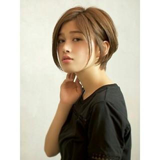 ショート ショートボブ ニュアンス ナチュラル ヘアスタイルや髪型の写真・画像