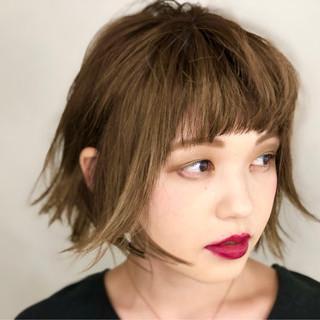ハイライト モード ショート ショートボブ ヘアスタイルや髪型の写真・画像