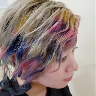 刈り上げ ブリーチ ショート モード ヘアスタイルや髪型の写真・画像
