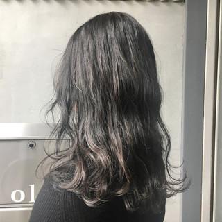 暗髪 オフィス グレージュ 透明感 ヘアスタイルや髪型の写真・画像