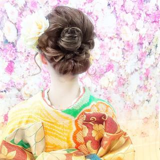結婚式 ナチュラル 成人式 アンニュイほつれヘア ヘアスタイルや髪型の写真・画像