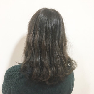 グラデーションカラー 外国人風 ストリート セミロング ヘアスタイルや髪型の写真・画像
