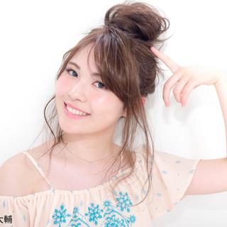 お団子 夏 簡単ヘアアレンジ 色気 ヘアスタイルや髪型の写真・画像