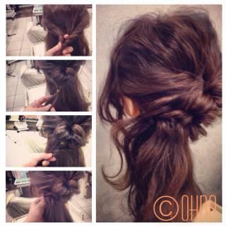 ヘアアレンジ 簡単ヘアアレンジ 編み込み くるりんぱ ヘアスタイルや髪型の写真・画像