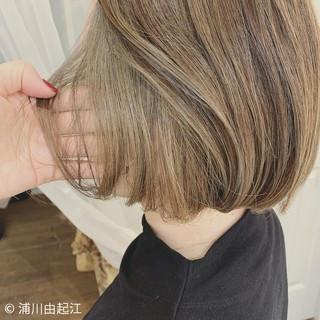デート モード ハイライト インナーカラー ヘアスタイルや髪型の写真・画像