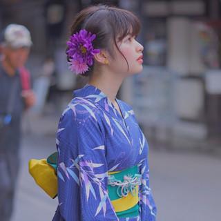 夏 色気 和装 お祭り ヘアスタイルや髪型の写真・画像