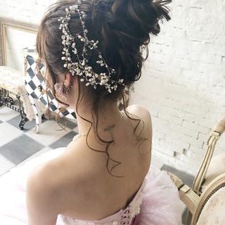 ロング 成人式 ヘアアレンジ 結婚式 ヘアスタイルや髪型の写真・画像
