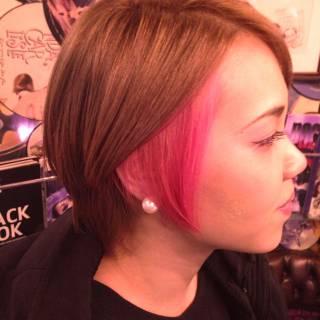 ストリート ショート ピンク モード ヘアスタイルや髪型の写真・画像