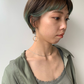デート ショート ナチュラル パーマ ヘアスタイルや髪型の写真・画像