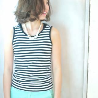かっこいい ナチュラル ボブ 大人女子 ヘアスタイルや髪型の写真・画像