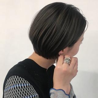 ショートボブ 大人ショート ミニボブ ショートヘア ヘアスタイルや髪型の写真・画像