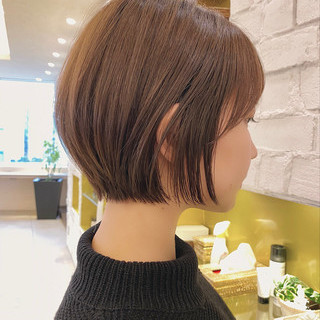 ショート 丸みショート 大人かわいい デート ヘアスタイルや髪型の写真・画像