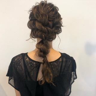 セミロング パーティ 結婚式 女子力 ヘアスタイルや髪型の写真・画像