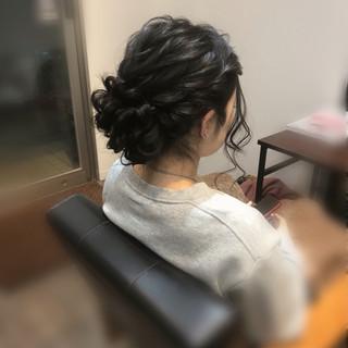 アップ ヘアセット ヘアアレンジ フェミニン ヘアスタイルや髪型の写真・画像