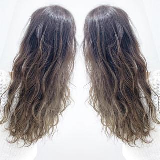 ハイライト 外国人風カラー アッシュ グラデーションカラー ヘアスタイルや髪型の写真・画像