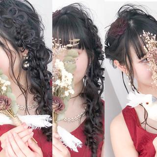 ガーリー 成人式 ロング デート ヘアスタイルや髪型の写真・画像