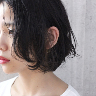 ボブ 色気 ナチュラル 大人女子 ヘアスタイルや髪型の写真・画像