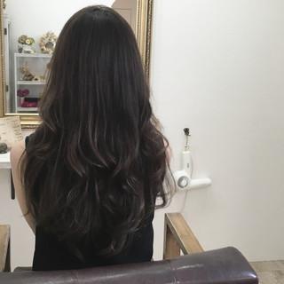 外国人風 ハイライト ロング 大人かわいい ヘアスタイルや髪型の写真・画像