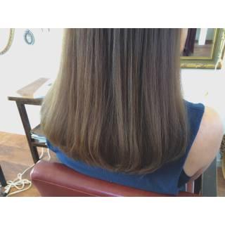 外国人風 大人かわいい アッシュ セミロング ヘアスタイルや髪型の写真・画像