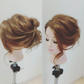 大人女子 ヘアアレンジ 小顔 ゆるふわ ヘアスタイルや髪型の写真・画像