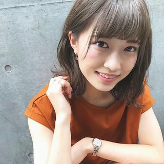 ゆるふわ 簡単ヘアアレンジ ナチュラル ミディアム ヘアスタイルや髪型の写真・画像