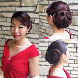上品 外国人風 エレガント ヘアアレンジ ヘアスタイルや髪型の写真・画像