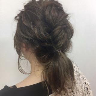 ガーリー 春 ヘアアレンジ ナチュラル ヘアスタイルや髪型の写真・画像