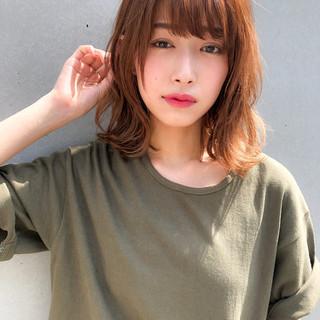 デジタルパーマ モテ髪 アンニュイほつれヘア ミディアム ヘアスタイルや髪型の写真・画像