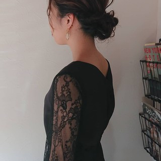 ナチュラル パーティ ミディアム 大人女子 ヘアスタイルや髪型の写真・画像