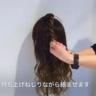フェミニン ショート ロング 簡単ヘアアレンジ ヘアスタイルや髪型の写真・画像