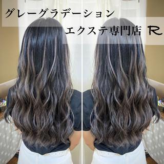 グラデーションカラー ロング エクステ ギャル ヘアスタイルや髪型の写真・画像